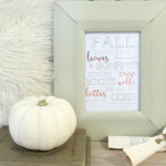 Fall Favorites Printable