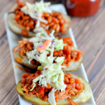 BBQ Pulled Pork Potato Skins
