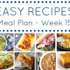 Easy Dinner Recipes Meal Plan - Week 15