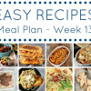 Easy Dinner Recipes Meal Plan - Week 13