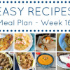 Weekly Meal Plan - Week 16