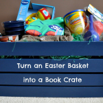 Ways to Reuse: Turn an Easter Basket into a Book Crate