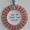 Washi Tape Wreath for July 4th