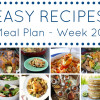 Weekly Meal Plan - Week 20