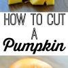How to Cut a Pumpkin