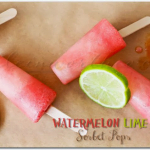 {Guest Post} Watermelon Lime Sorbet Pops