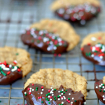 Easy Dark Chocolate Peanut Butter Cookies