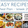 Easy Recipes Meal Plan - Week 25