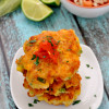 Grilled Mexican Corn Cakes with Fresh Salsa