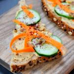 Carrot Hummus Toast