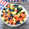 Perfect BBQ Ideas: Iced Tea and Mixed Summer Fruit Salad
