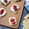 Roasted Grape Blue Cheese Crackers