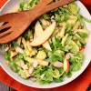 Shaved Brussels Sprouts Salad and Cheddar Broccoli Soup