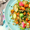 Dijon Vegetable and Lentil Salad