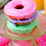 Spring Pastel Vanilla Donuts