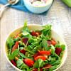 Arugula Salad and Sweet Corn Chowder