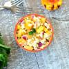 Curried Peach Corn Salsa