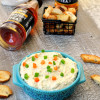 Everything Bagel Chips with Veggie Cream Cheese