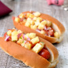 Grilled Hot Dogs with Pineapple Jicama Salsa