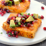 Tilapia with Pomegranate Avocado Salsa
