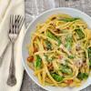 Roasted Asparagus Carbonara