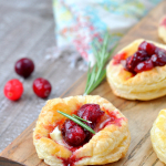 Balsamic Cranberry Brie Bites - Christmas Party Food