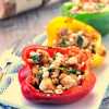 Balsamic Chicken Stuffed Bell Peppers
