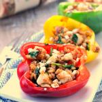 Balsamic Chicken Stuffed Bell Peppers