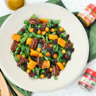 Massaged Kale Salad and Spiced Cranberry Old Fashioned
