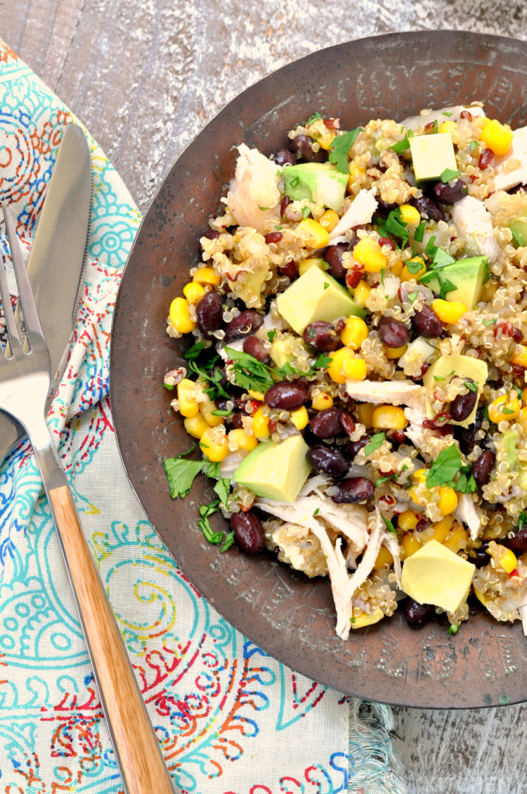 Chicken Avocado Quinoa Salad
