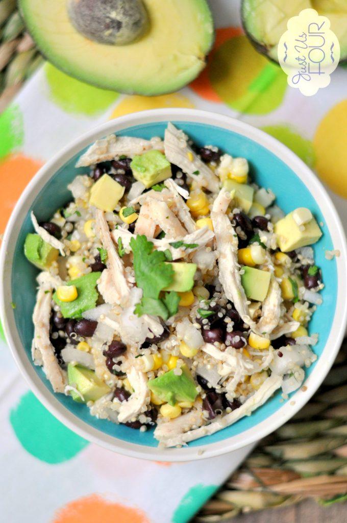 Perfect Summer Salad: Chicken Quinoa salad