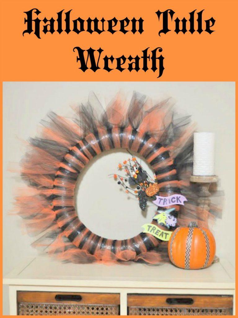 Easy Halloween Tulle Wreath