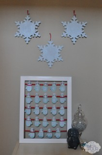 Glitter Snowflakes on Display