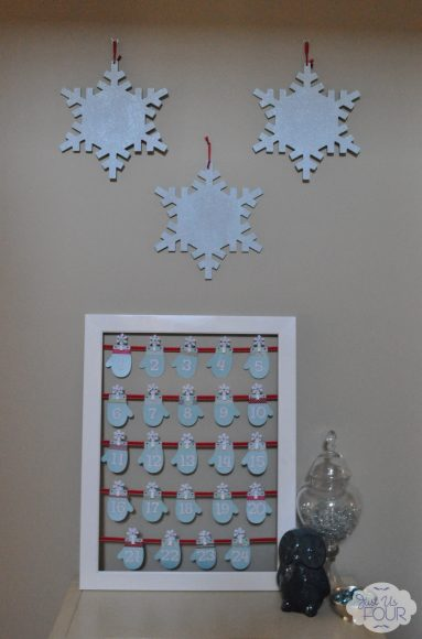 Glitter Snowflakes on Display