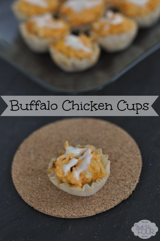 Easy Buffalo Chicken Cups #appetizers #superbowl #recipes
