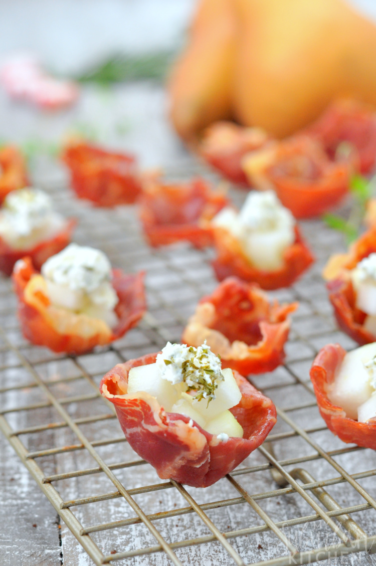 Goat Cheese Prosciutto Cups