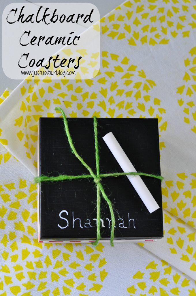 Chalkboard Ceramic Coasters