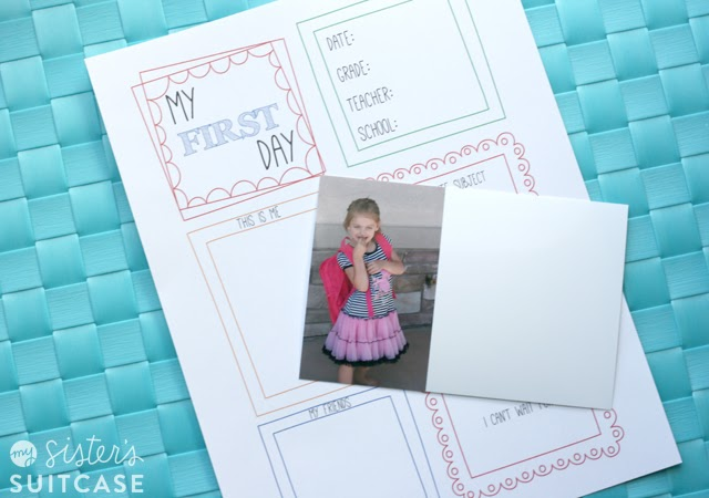 Sisters Suitcase - First Day of School Memory Page
