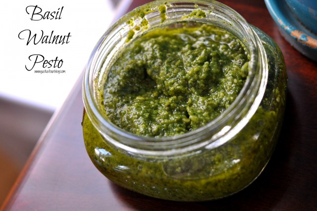 Basil Walnut Pesto with Label
