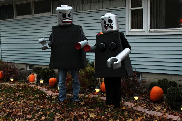 Black and White Obsessions - DIY Lego Man Costume