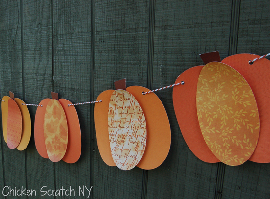 Chicken Scratch NY - Pumpkin Paper Banner