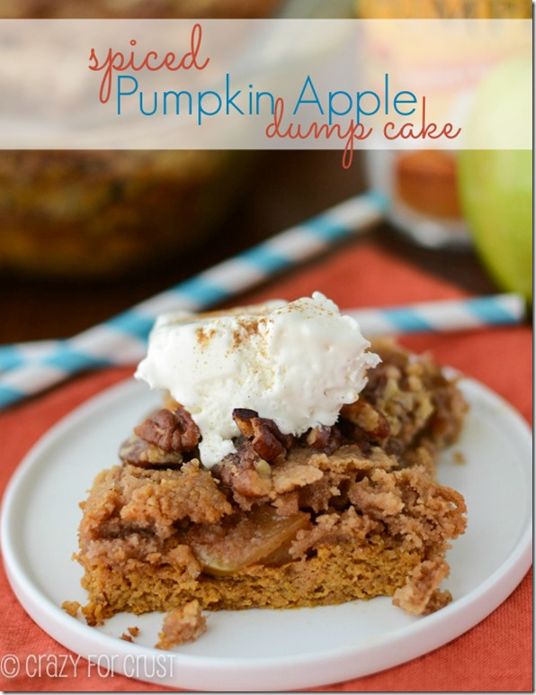 Crazy for Crust - Spiced Pumpkin Apple Dump Cake