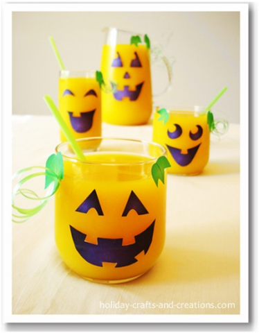 Holidays Crafts and Creations - Pumpkin Face Glasses