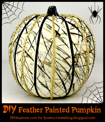 I Love to Create - Feather Painting Pumpkin