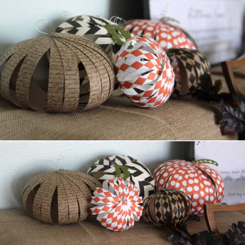 Its Always Autumn - Patterned Paper Pumpkins