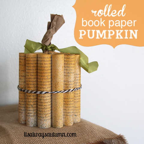 Its Always Autumn - Rolled Book Paper Pumpkins