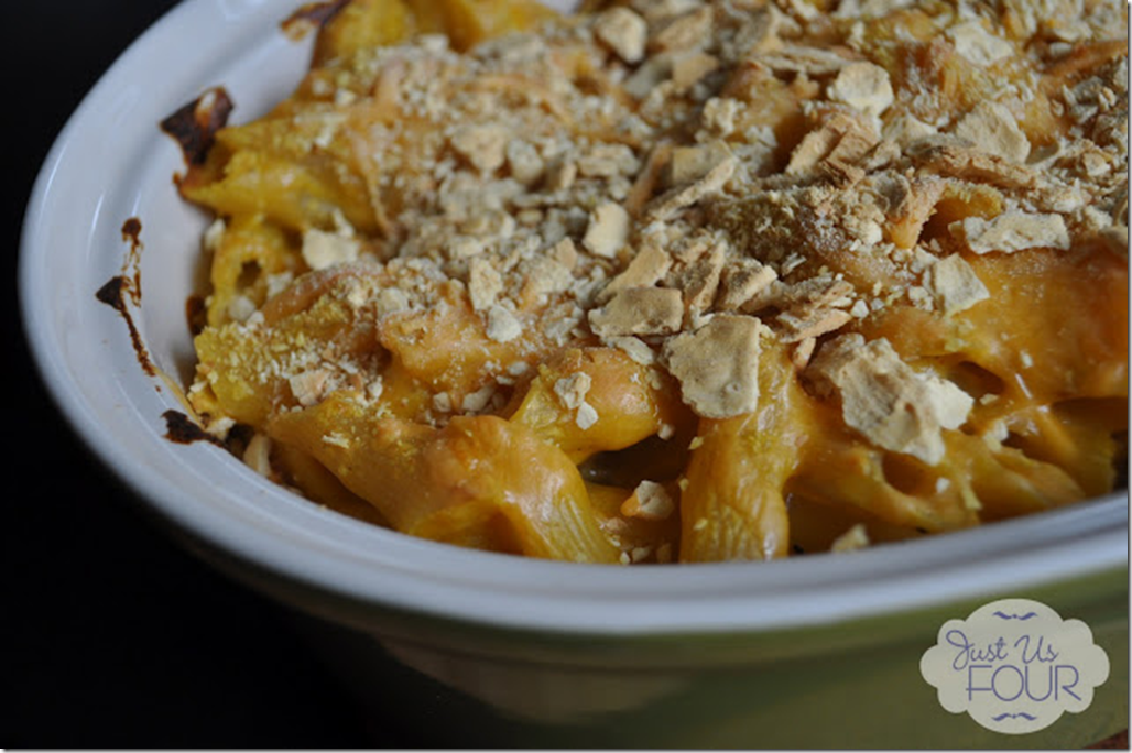 Just Us Four - Pumpkin Macaroni and Cheese