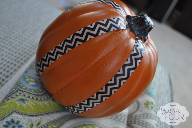 Just Us Four - Washi Tape Pumpkins