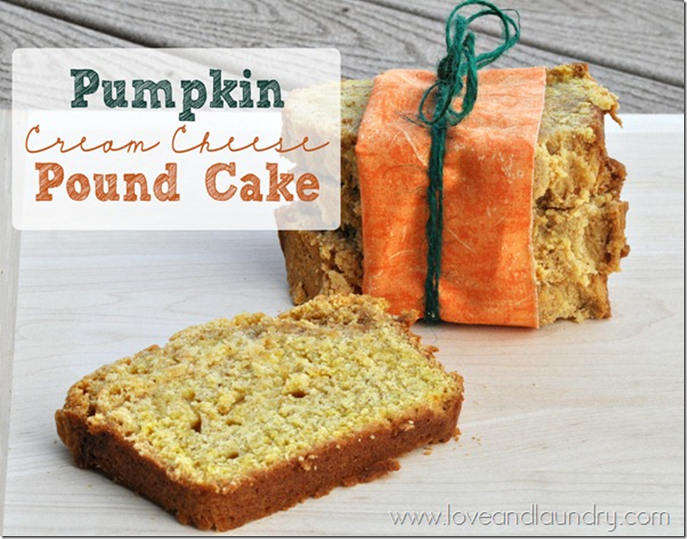 Love and Laundry - Pumpkin Cream Cheese Pound Cake