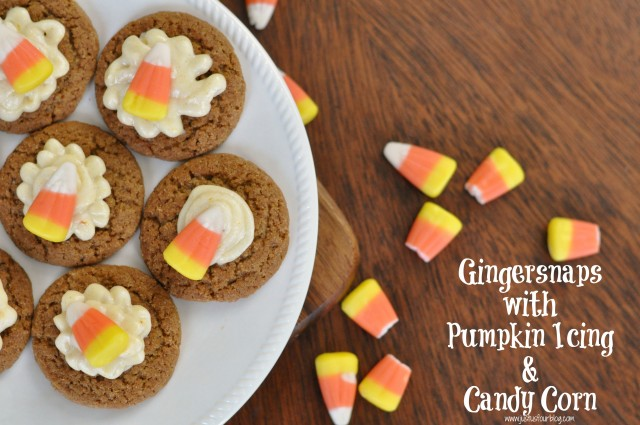 Plate of Pumpkin Gingersnaps with label